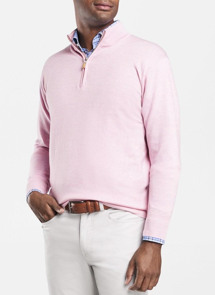 pink peter millar crown cool sweater