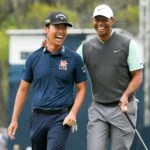 Kevin Na and Tiger Woods during last year's Players Championship.