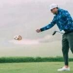 Stylish golfer on course