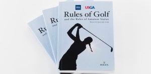 The 2016 Rules of Golf Book as seen at United States Golf Association in Far Hills, N.J. on Tuesday, October 20, 2015.  (Copyright USGA/Jonathan Kolbe)