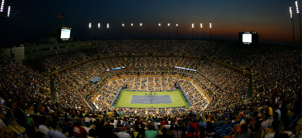 Image result for arthur ashe stadium night