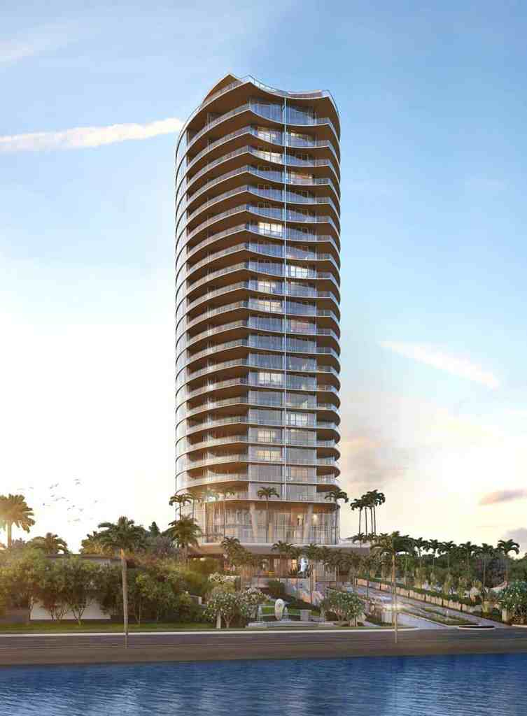 Rendering of Forté on Flagler, a new construction condo in downtown West Palm Beach