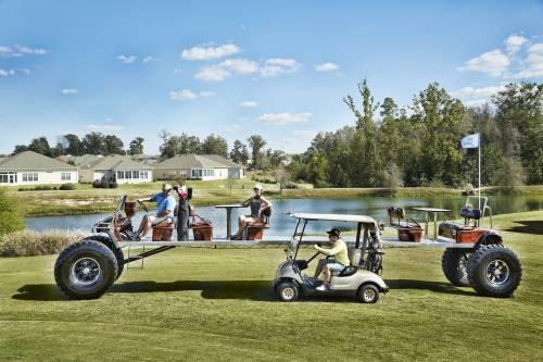 World s longest golf cart golfblogger golf blog for Narrow golf cart