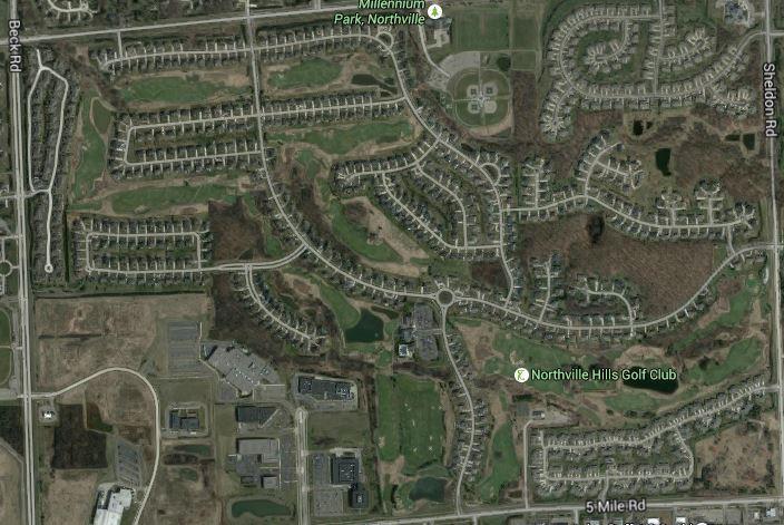 northville hills map
