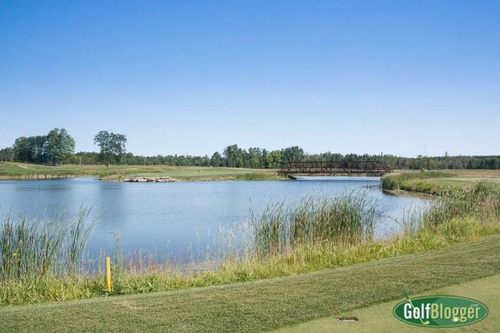 "Sweetgrass Hole 15, a 168 yard ""island"" par 3"