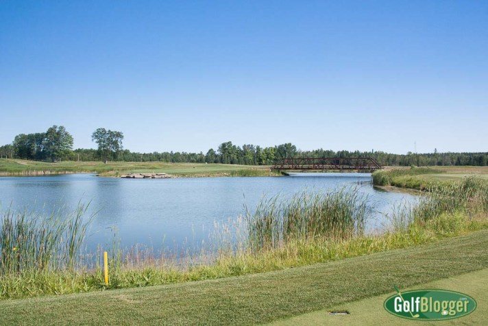 "Sweetgrass Hole 15, a 168 yard ""island"" par 3"
