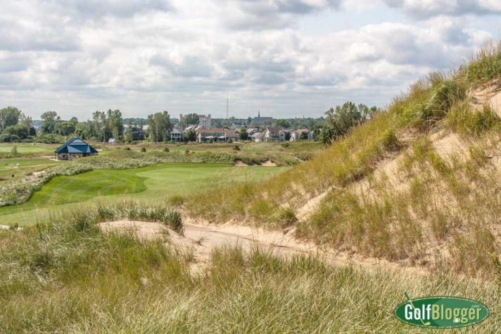 The eighth at Harbor Shores is a 384 yard par 4