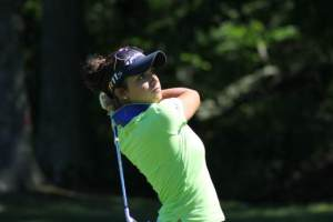 Allyson Geer of Brighton is co-leader at the 99th Michigan Women's Amateur