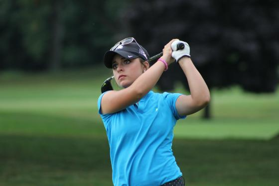 Allyson Geer in action Friday at the GAM Women's Amateur