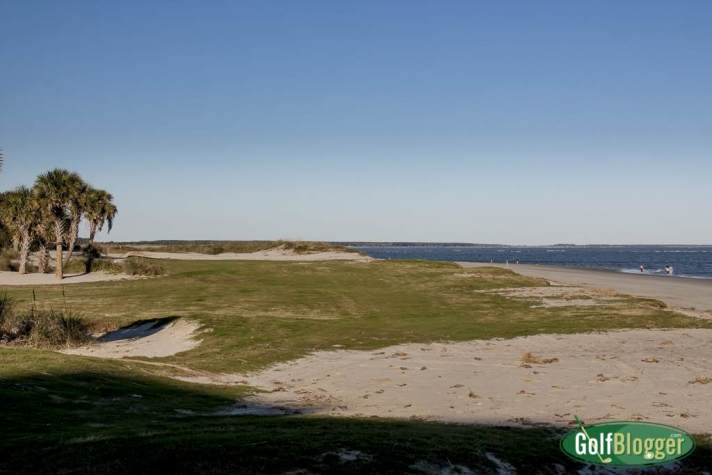What is left of the original par 5 eighteenth at Wild Dunes Links Course