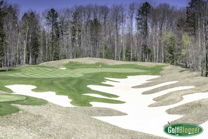 The fifth at Black Lake is a 235 yard par 3.