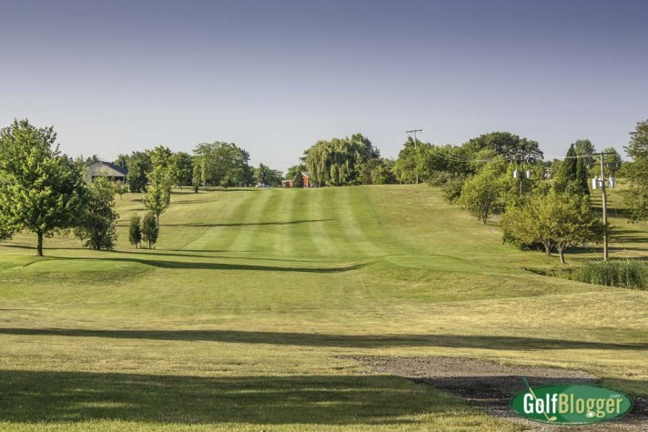 The ninth at Rustic Glen is a 403 yard par 4.