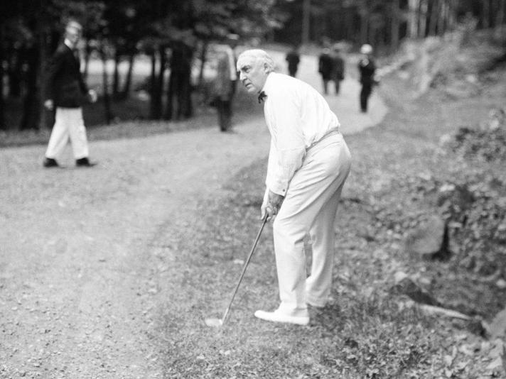 President Warren G. Harding, Golfer