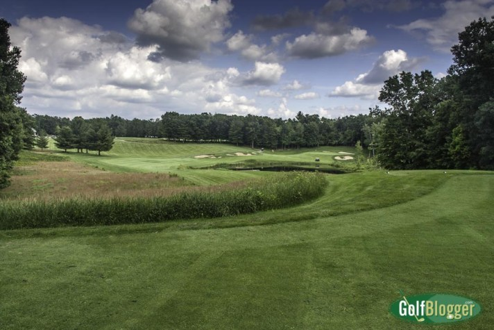 The eighteenth at Pilgrim's Run is a 305 yard par 4.