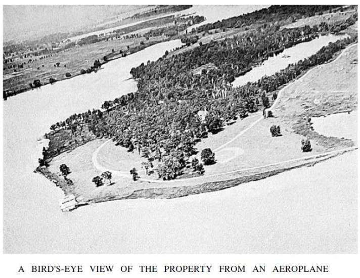 Aerial View of Aviation Country Club of Detroit.