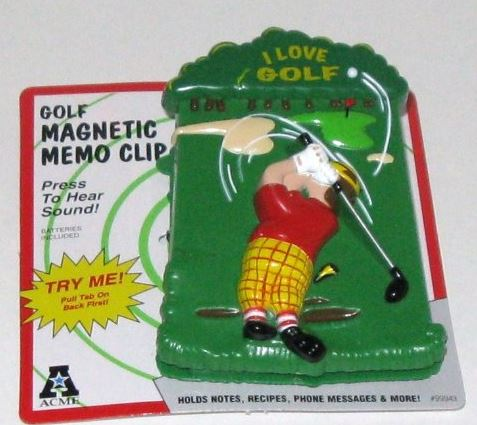 magnetic golf memo