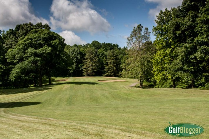 A view of the green on the par 4 18th.