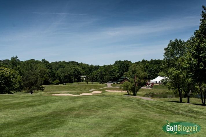 A view of the green on Thornapple Creek's par 5 ninth.