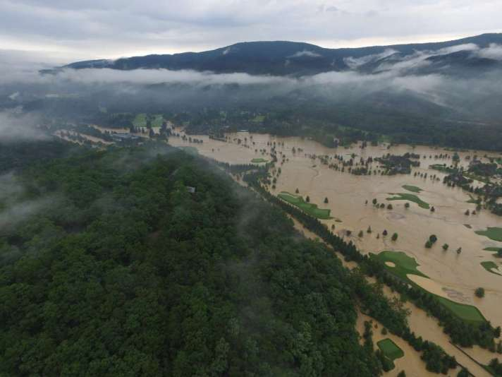 Flooding At The Greenbrier