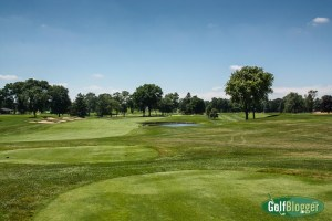 The seventh at Oakland Hills is a 446 yard par 4.