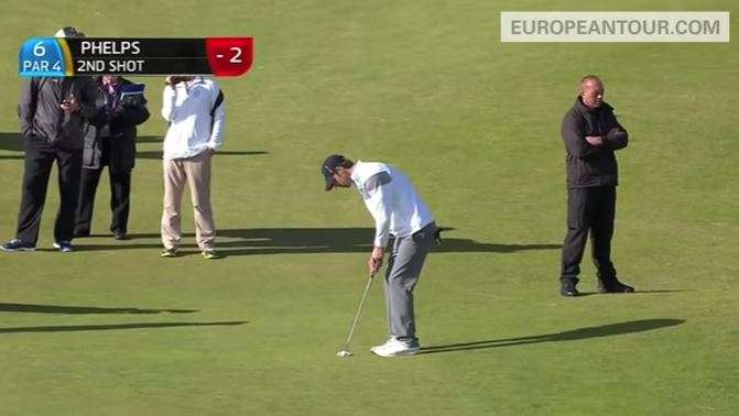 Olympian Michael Phelps Putts for Eagle