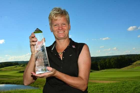 Trish Johnson, winner of the 2016 Legends Championship at French Lick Resort