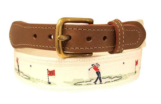 Skippers Embroidered Golf Belt