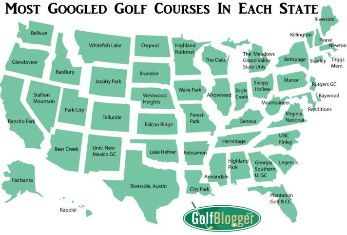 Most Googled Golf Course In Your State