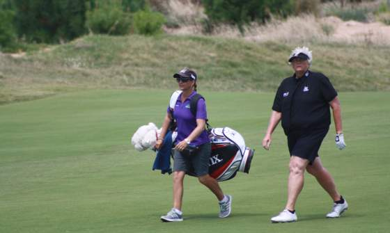 Laura Davies as the ISPS Handa Australian Open