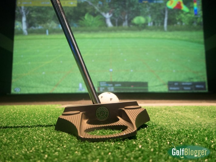 Putting at X-Golf Ann Arbor feels remarkably realistic.