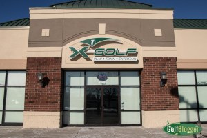 X-Golf Ann Arbor's storefront. It is adjacent to the Emagine Theatre.