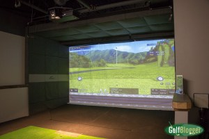 A simulator at X-Golf Ann Arbor