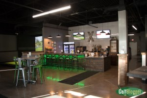 X-Golf Ann Arbor's bar.