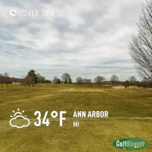 A February 2018 Round Of Golf In Michigan