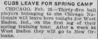 Golf Buddy Trip To French Lick -- In 1916