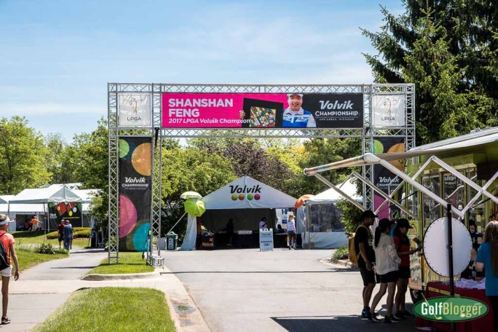 The entrance to the LPGA Volvik Championship in Ann Arbor, Michigan.