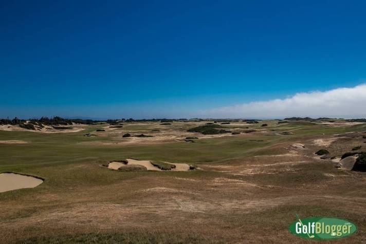 The exposed layout of Old MacDonald at Bandon Dunes.