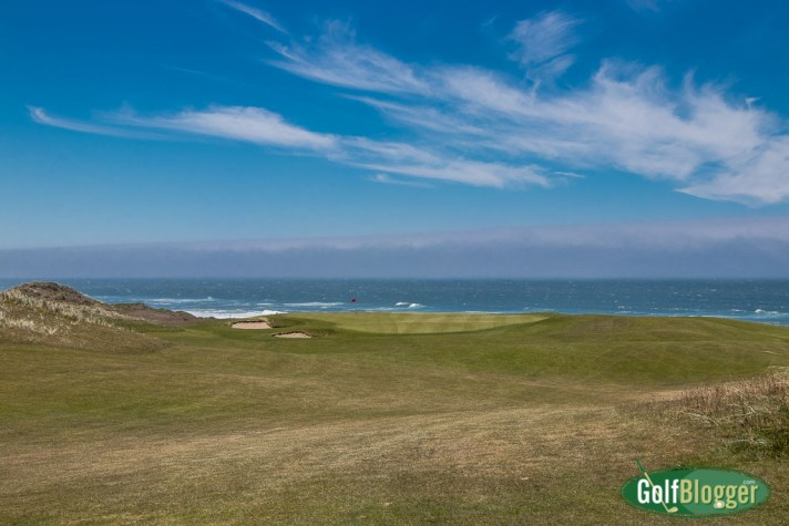 A view of the green on the fourth at Bandon Dunes.