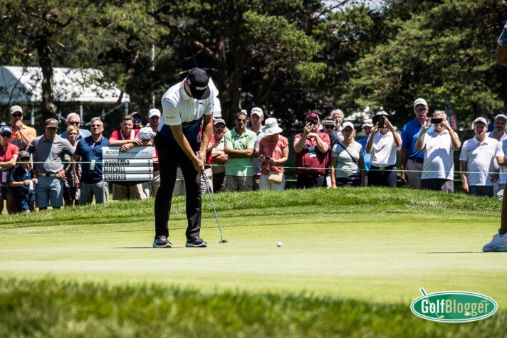 A Fan's View Of The Rocket Mortgage Classic At Detroit Golf Club Gary Woodland putts on one of the elevated greens at Detroit Golf Club. Fans can get a good view thanks to elevated greens at the club.