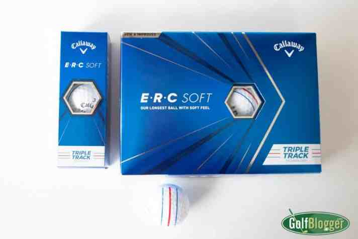 Callaway ERC Soft Golf Ball Review image of ball and box