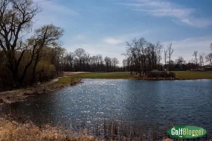 An Early April Round At Washtenaw - 15trth hole