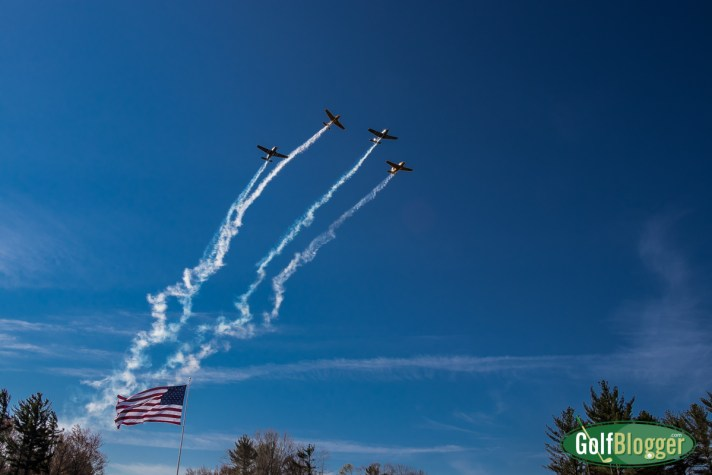 A flyover at the American Dunes grand opening.