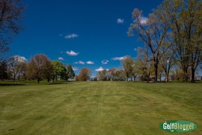 Spring Golf In Michigan The third fairway at Washtenaw in spring.