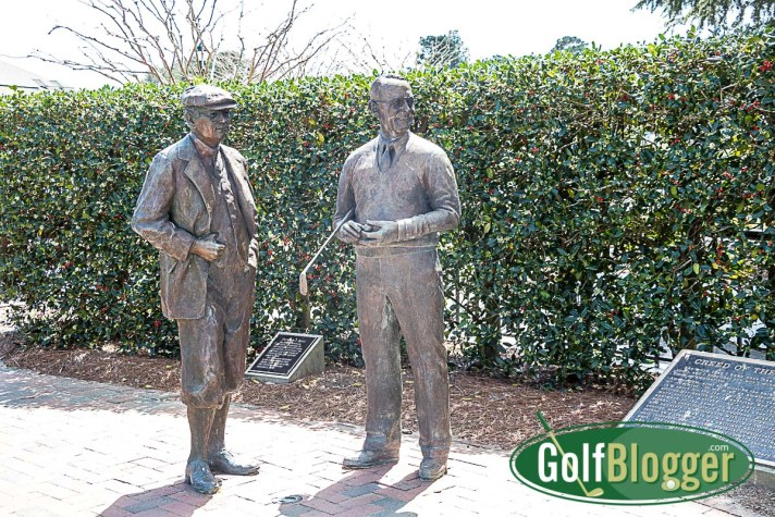 On A Pinehurst Golf Vacation Ross and Tufts Statue