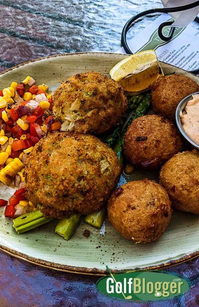 On A Pinehurst Golf Vacation crabcakes