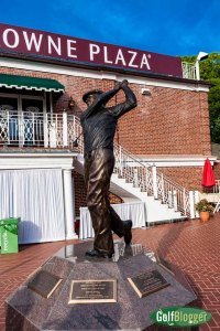 The Hogan Statue At Colonial Country Club