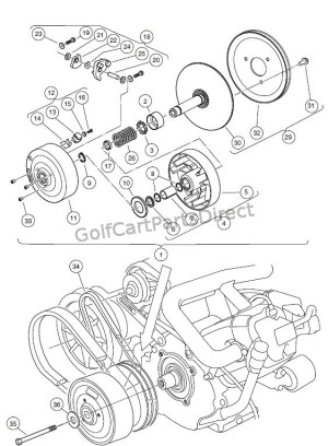 DRIVE CLUTCH – CARRYALL 2 PLUS, AND TURFCARRYALL 6  Club