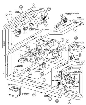 WIRING, GASOLINE VEHICLE  CARRYALL II PLUS
