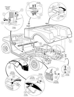 19981999 Club Car DS Gas or Electric  GolfCartPartsDirect