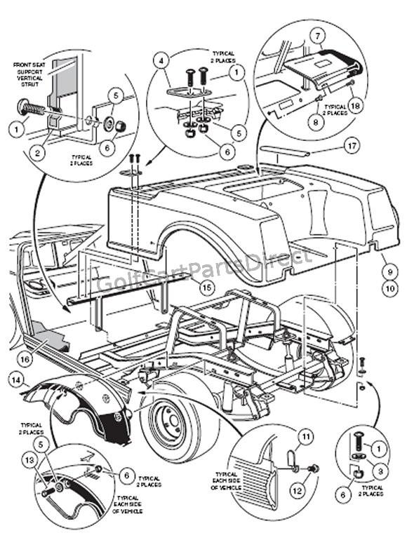 20002005 club car ds gas or electric  golfcartpartsdirect